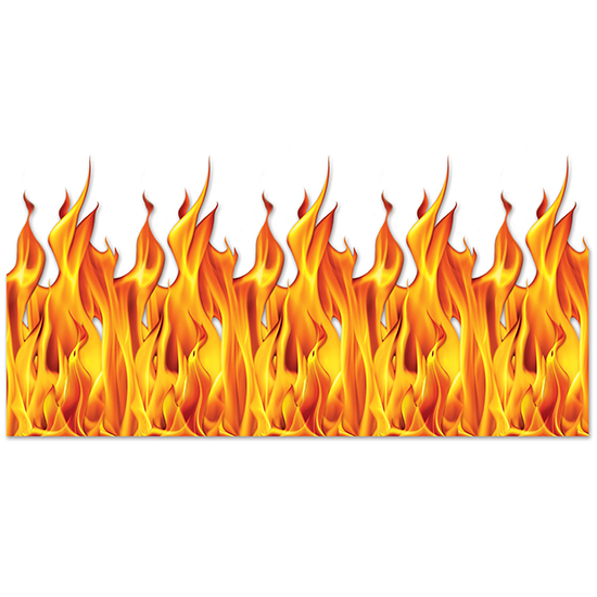 FLAME BACKDROP PARTY SUPPLIES