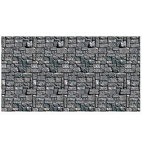 Scene Setters Halloween vampire bite scene setters Click For Larger Picture Of Stone Wall Backdrop 6cs Party Supplies