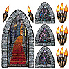 STAIRWAY, WINDOW & TORCH PROPS PARTY SUPPLIES