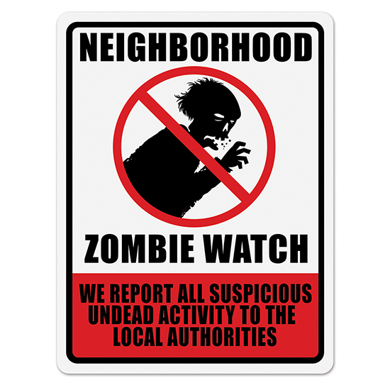 NEIGHBORHOOD ZOMBIE WATCH SIGN PARTY SUPPLIES
