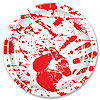 BLOODY HANDPRINTS PLATES (96/CS) PARTY SUPPLIES