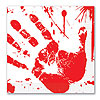 BLOODY HANDPRINTS LUNCH NAPKINS (192/CS) PARTY SUPPLIES