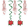 POINSETTIA SHIMMERS & WHIRLS (30/CS) PARTY SUPPLIES