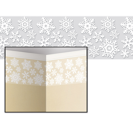 SNOWFLAKE BORDER PARTY SUPPLIES