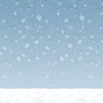 WINTER SKY BACKDROP PARTY SUPPLIES