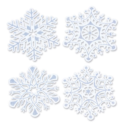 GLITTERED SNOWFLAKE CUTOUTS PARTY SUPPLIES