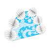 SNOWFLAKE POP-OVER CENTERPIECE (12/CS) PARTY SUPPLIES