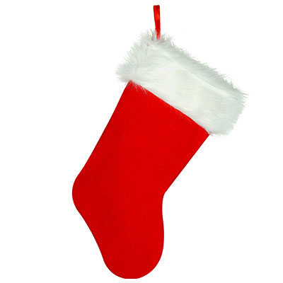 PLUSH CHRISTMAS STOCKING PARTY SUPPLIES