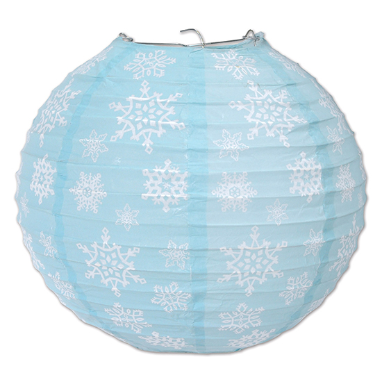 SNOWFLAKE PAPER LANTERNS PARTY SUPPLIES