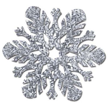 PRISMATIC SNOWFLAKE CUTOUT PARTY SUPPLIES