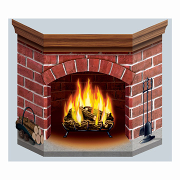 Gallery For Christmas Fireplace Scene