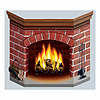 BRICK FIREPLACE STAND-UP PARTY SUPPLIES