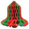 RED-GREEN TISSUE BELL 12 IN. (24/CS) PARTY SUPPLIES