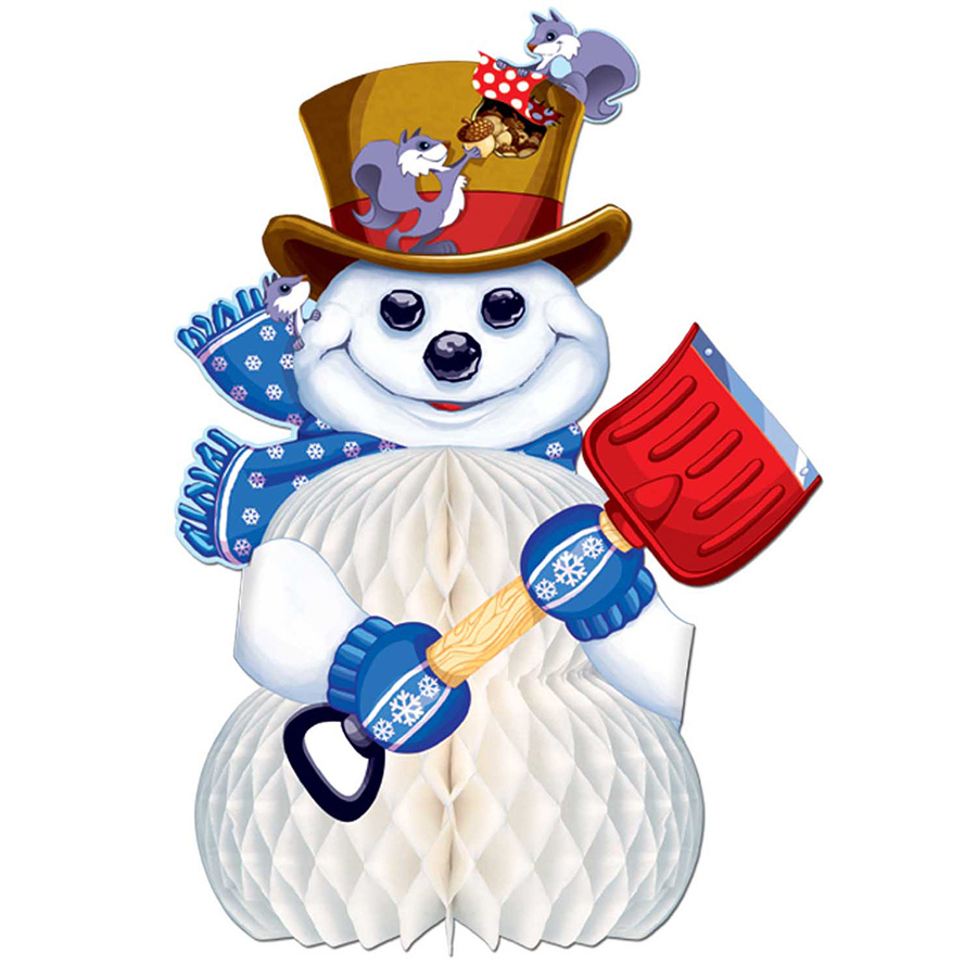 SNOWMAN CENTERPIECE (11IN.) PARTY SUPPLIES