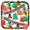 MERRY CHRISTMAS MET DECORATING KIT-20 CT PARTY SUPPLIES