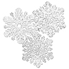 SNOWFLAKES SILVER (15IN.) 4-PACK PARTY SUPPLIES