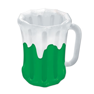 Click for larger picture of INFLATABLE GREEN BEER MUG COOLER (6/CS) PARTY SUPPLIES
