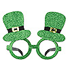 GLITTERED LEPRECHAUN HAT GLASSES (12/CS) PARTY SUPPLIES
