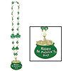 SHAMROCK BEADS W/POT-O-GOLD MEDALLION PARTY SUPPLIES