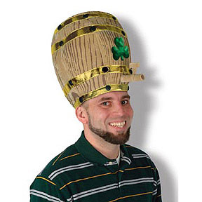 Click for larger picture of PLUSH SHAMROCK BEER BARREL HAT PARTY SUPPLIES