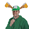 PLUSH ST PATRICK'S DAY MUGS CAP (6/CS) PARTY SUPPLIES
