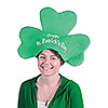 ST PATRICK'S DAY SHAMROCK HAT (6/CS) PARTY SUPPLIES