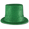 GREEN GLITTERED TOP HAT(24/CS) PARTY SUPPLIES