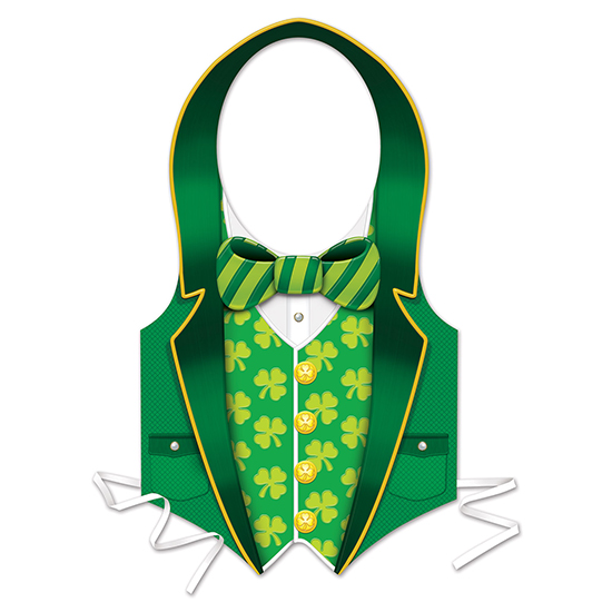 ST PATRICK VEST (24/CS) PARTY SUPPLIES