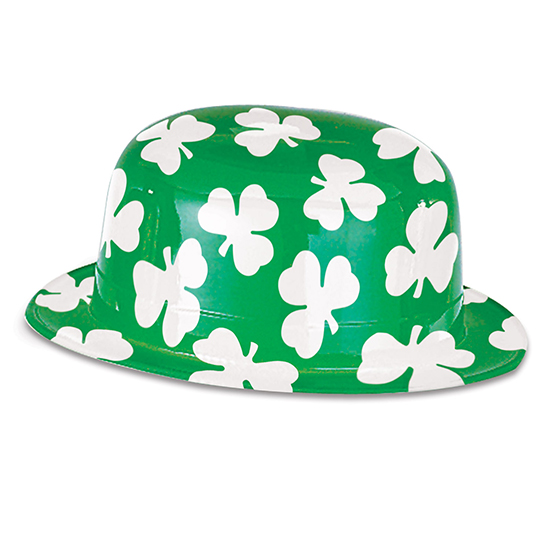 PLASTIC SHAMROCK DERBY (25/CS) PARTY SUPPLIES