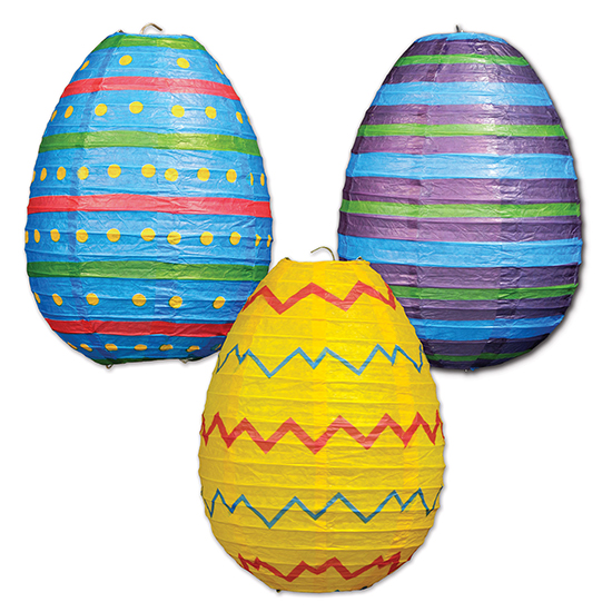 EASTER EGG PAPER LANTERN (18/CS) PARTY SUPPLIES