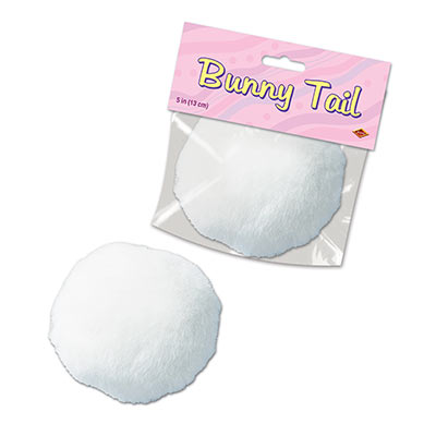 PLUSH BUNNY TAIL (12/CS) PARTY SUPPLIES