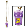 MARDI GRAS BEADS W/GLASS(12/CS) PARTY SUPPLIES