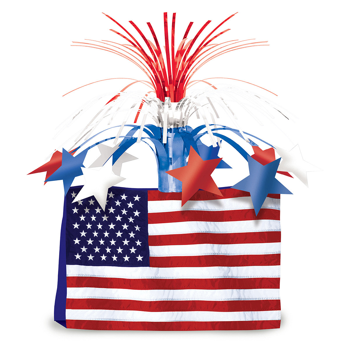 Bulk patriotic centerpieces party supplies american flag for American party decoration