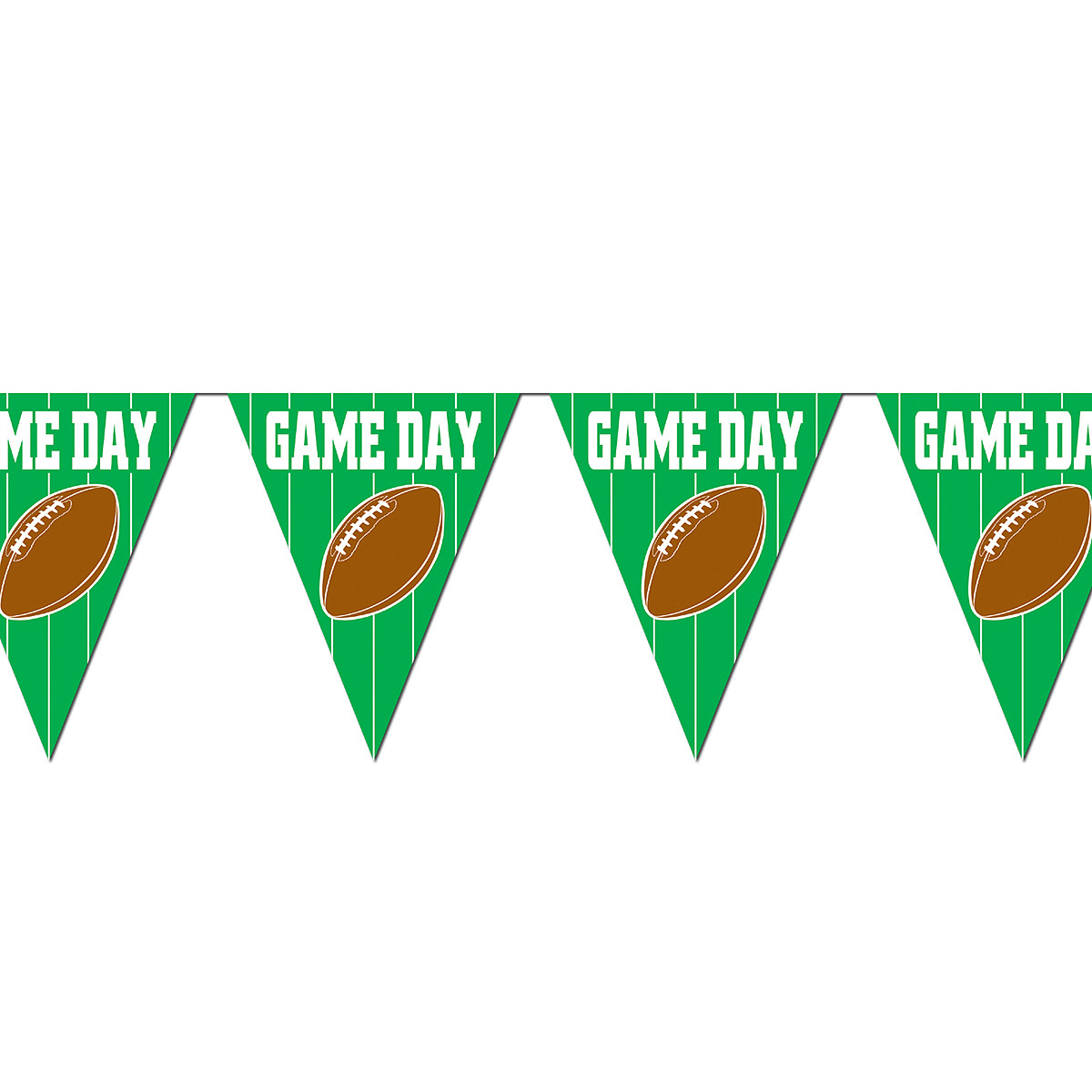click for larger picture of game day football pennant banner party supplies - Football Decorations