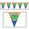 RETIRED NOW THE FUN BEGINS PENNANT BANNR PARTY SUPPLIES