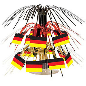 click for larger picture of mini german flag cascade centerpiece party supplies - Oktoberfest Decorations