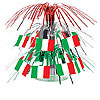 MINI ITALIAN FLAG CASCADE CNTRPC (12/CS) PARTY SUPPLIES