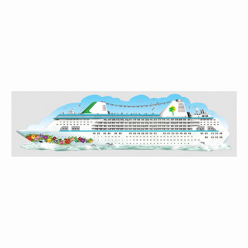 Click for larger picture of JOINTED CRUISE SHIP (6FT) PARTY SUPPLIES