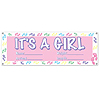 IT'S A GIRL BANNER (60X21 IN.) PARTY SUPPLIES