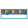 HAPPY BIRTHDAY BLANK SIGN BANNER(12/CS) PARTY SUPPLIES