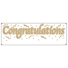 graduation party banners congratulations blank sign banner