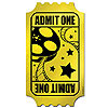 ADMIT ONE GOLDEN TICKET DECORATION PARTY SUPPLIES