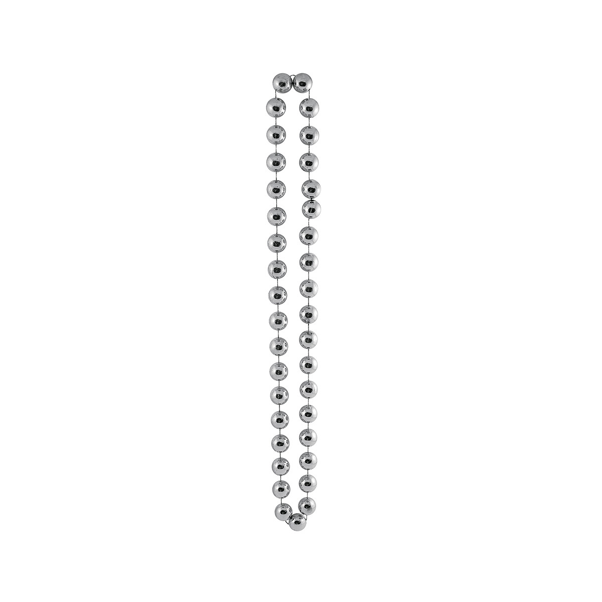 Click for larger picture of JUMBO PARTY BEADS SILVER PARTY SUPPLIES