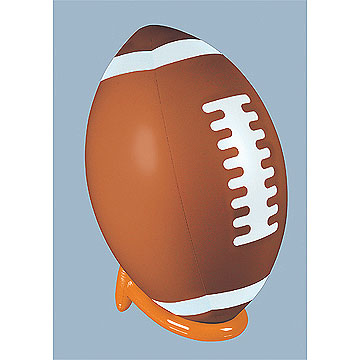 Click for larger picture of INFLATABLE FOOTBALL & TEE SET (1/CS) PARTY SUPPLIES