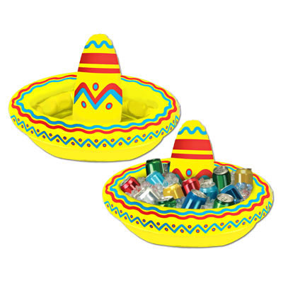 Click for larger picture of INFLATABLE SOMBRERO COOLER PARTY SUPPLIES