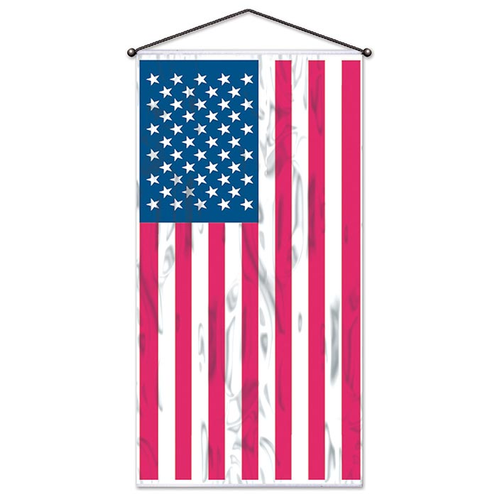Click for larger picture of AMERICAN FLAG DOOR-WALL PANEL (12/CS) PARTY SUPPLIES