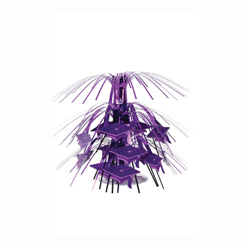 Click for larger picture of MINI GRAD CAP CASCD CNTRPC PURPLE (12/CS PARTY SUPPLIES