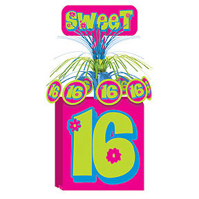 Click for larger picture of SWEET 16 CENTERPIECE CASCADE PARTY SUPPLIES