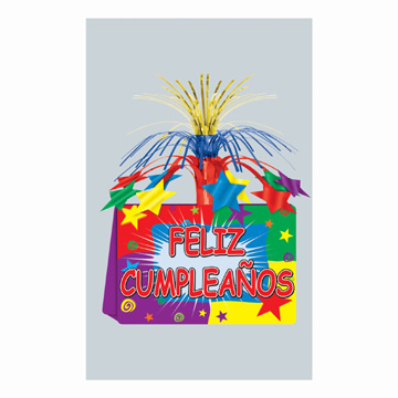 Click for larger picture of DISCONTINUED FELIZ CUMP CENTERPIECE PARTY SUPPLIES