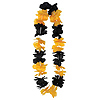 SILK 'N PETALS LEI BLCK/G YELLOW (12/CS) PARTY SUPPLIES
